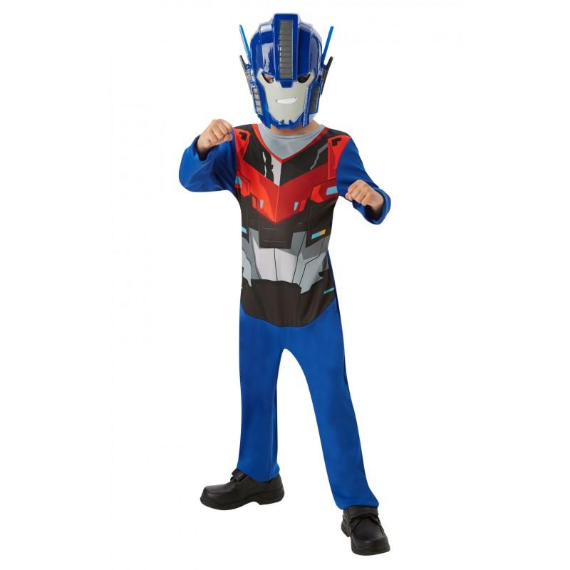 Costum cu masca Optimus Prime Transformers, varsta 3-6 ani, Albastru/Rosu 2021 shopu.ro