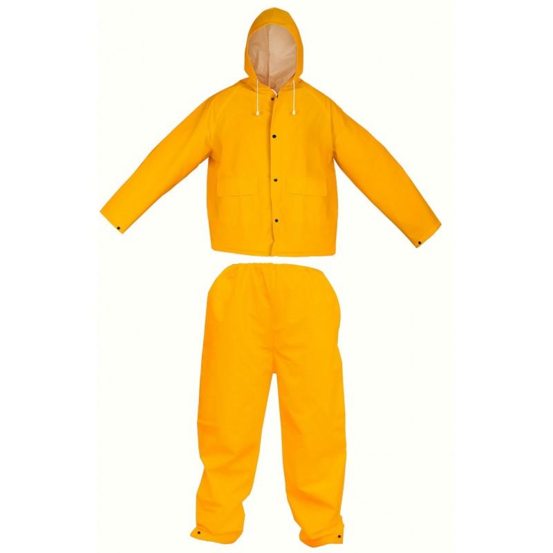 Costum de ploaie Tolsen, PVC, marime L, Galben 2021 shopu.ro