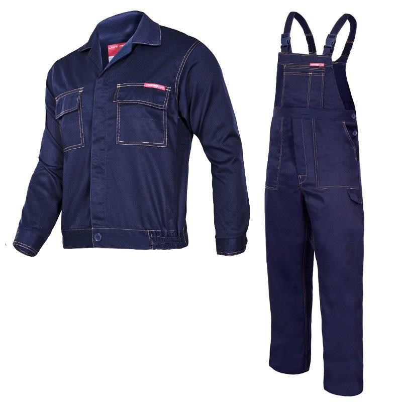 Costum lucru subtire, 35% bumbac, cusaturi duble, 8 buzunare, marime XL/H-176, Albastru