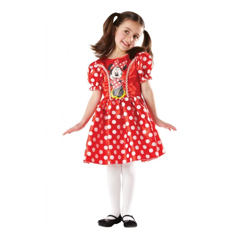 Costum fetite Minnie Mouse, varsta 7-8 ani, marime L, Rosu 2021 shopu.ro