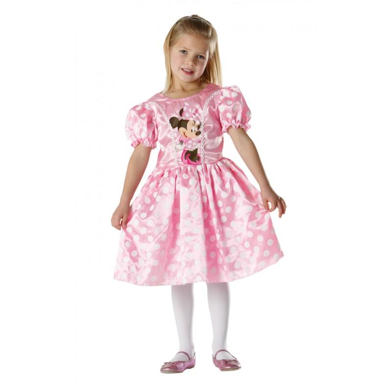 Costum pentru fetite Minnie Mouse, varsta 7-8 ani, marime L, Roz 2021 shopu.ro