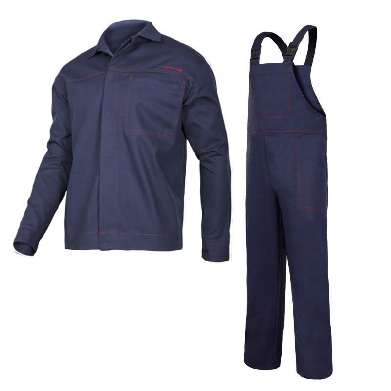 Costum sudura, 100% bumbac ignifug, 4 buzunare, talie si mansete ajustabile, marime M/B shopu.ro