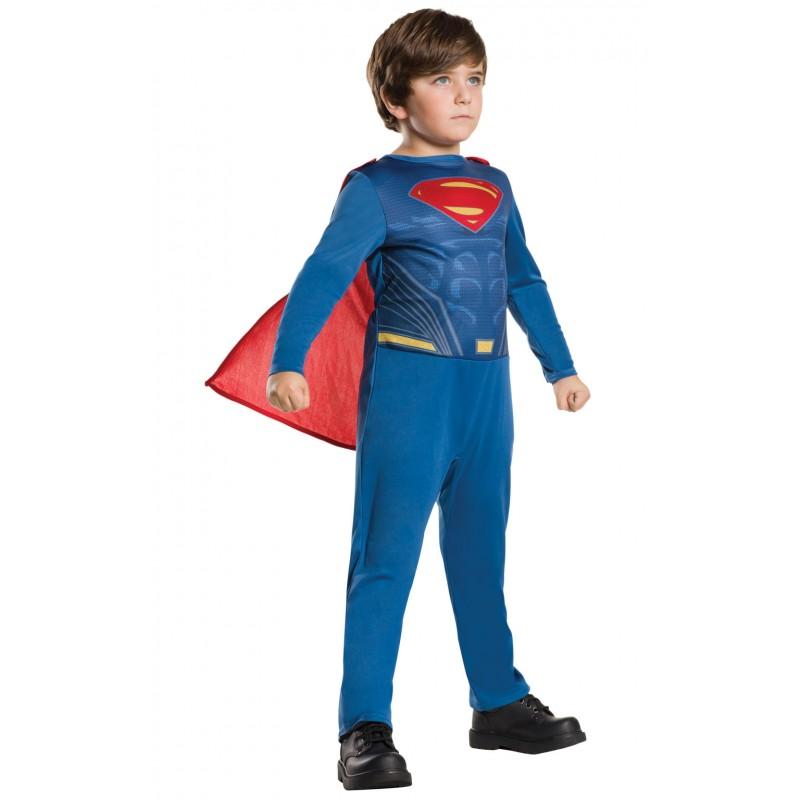 Costum pentru copii Superman, 10-12 ani, 150 cm, Albastru/Rosu 2021 shopu.ro