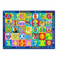 Covor de joaca Litere si forme geometrice Melissa & Doug, 147 x 200 cm, 3 ani+