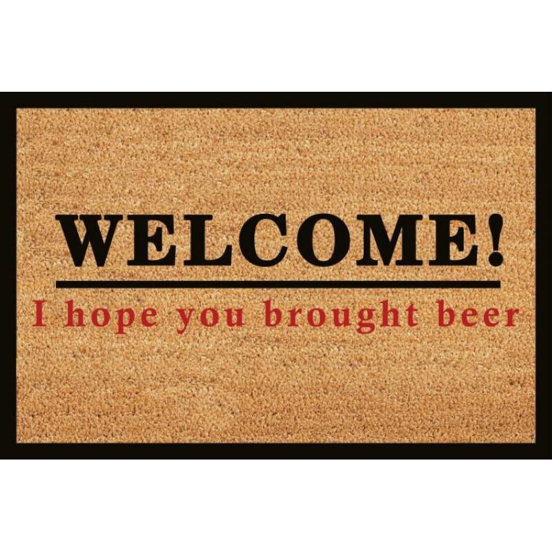 Covoras intrare Heinner, 40 x 60 cm, iarba de mare, model beer shopu.ro