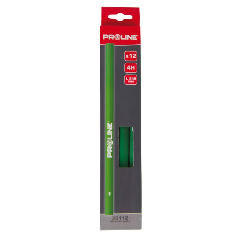 Set 12 creioane pentru tamplarie Proline, 245 mm, tip 4H 2021 shopu.ro