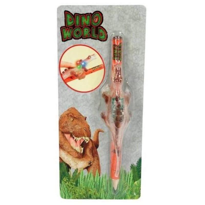 Creion cu figurina Dino World Depesche, HB 7 mm, Maro 2021 shopu.ro