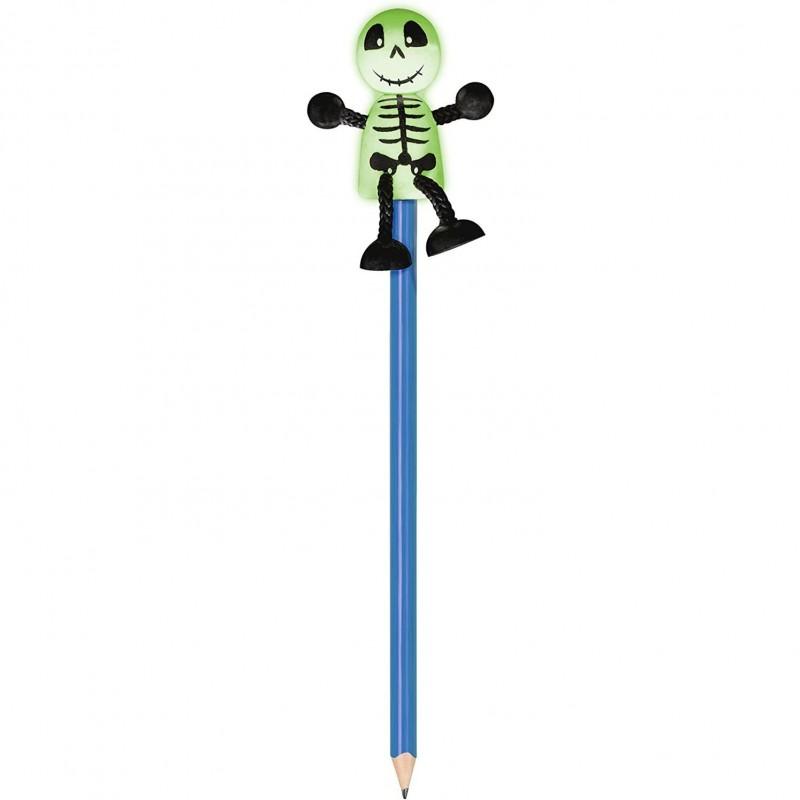 Creion cu figurina Schelet Fiesta Crafts, lemn, pictat manual 2021 shopu.ro