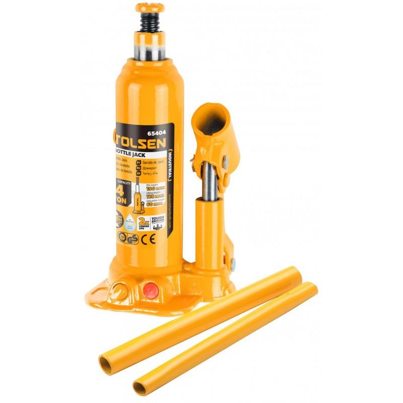 Cric hidraulic tip butelie Tolsen, suporta maxim 10 tone, uz industrial 2021 shopu.ro
