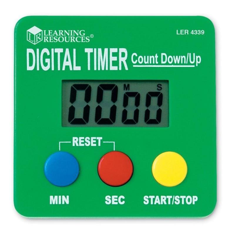 Cronometru digital pentru copii Learning Resources, 7 cm, 3 - 12 ani 2021 shopu.ro