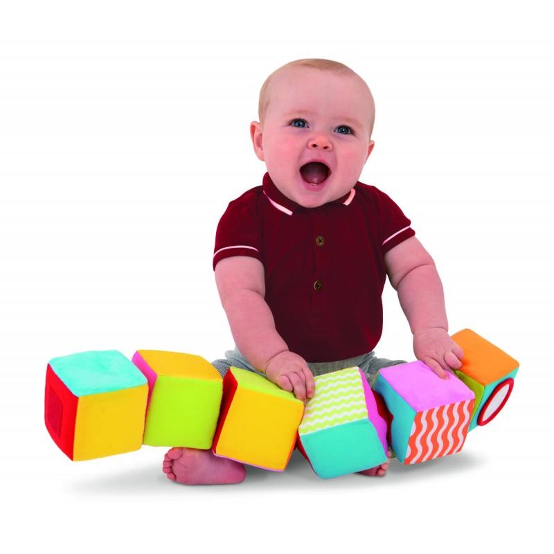 Cuburi colorate Galt, material poliester, 6 luni+ 2021 shopu.ro