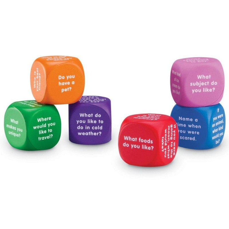 Cuburi pentru conversatii Learning Resources, 36 de intrebari, 6 - 10 ani 2021 shopu.ro