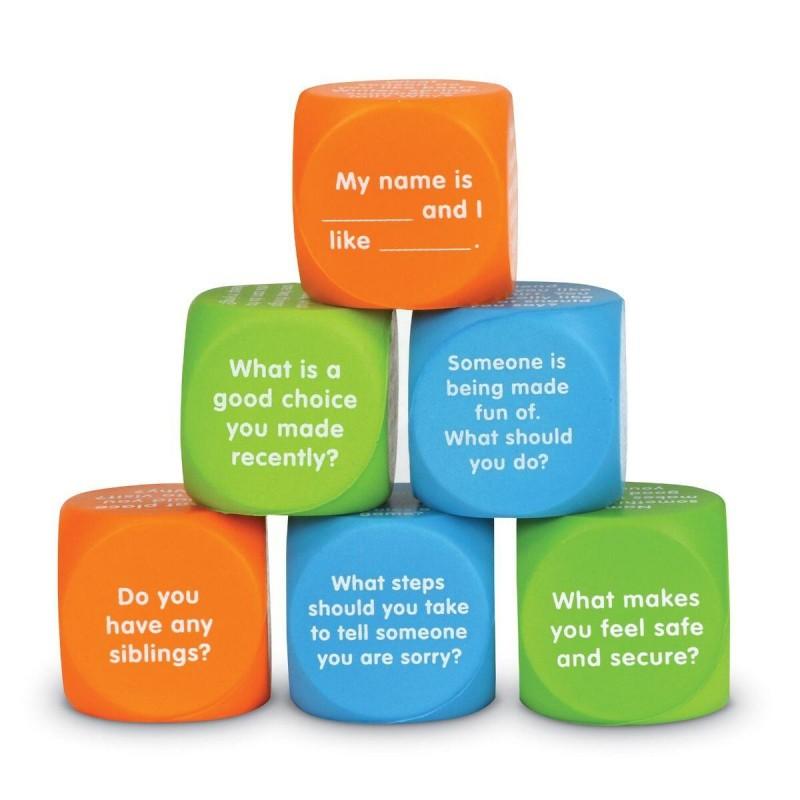 Cuburi pentru conversatii Descoperim emotiile Learning Resources, 5 ani+ 2021 shopu.ro