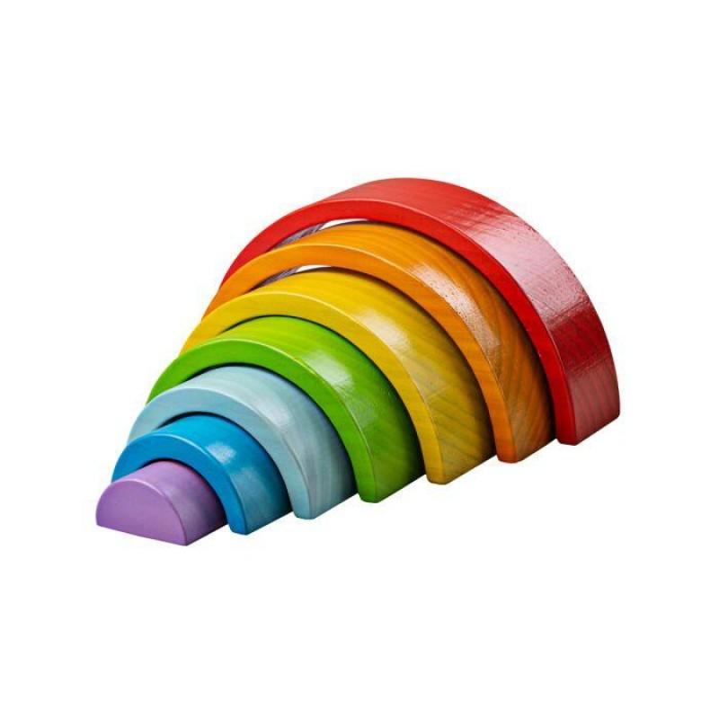 Joc curcubeu din lemn BigJigs, 7 piese, 3 ani+, Multicolor 2021 shopu.ro