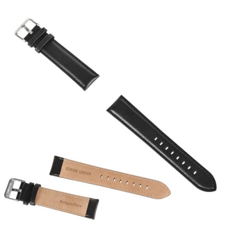 Curea piele naturala pentru Smartwatch Kruger & Matz, Negru 2021 shopu.ro