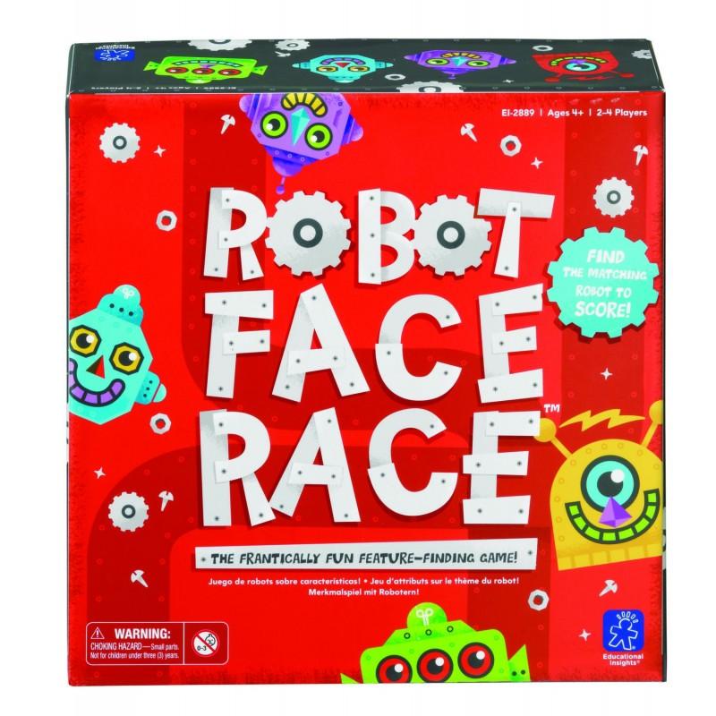 Cursa roboteilor Educational Insights, 20 de jetoane in 4 culori, 2-4 jucatori