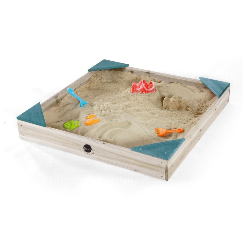 Cutie de nisip Junior Plum, 90 x 90 x 12 cm, lemn, 3 ani+ 2021 shopu.ro