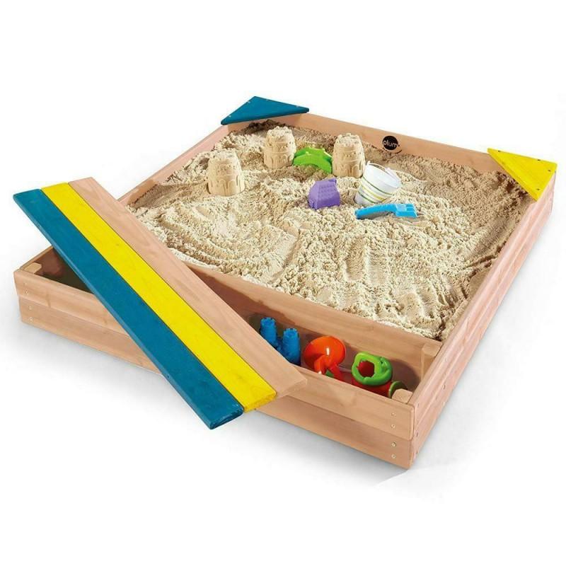 Cutie de nisip Store-It Plum, 102 x 96 x 15 cm, lemn, cutie jucarii inclusa, 3 ani+ 2021 shopu.ro