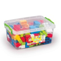 Cutie depozitare cu 85 cuburi, plastic rezistent, 15 x 38 x 26 cm