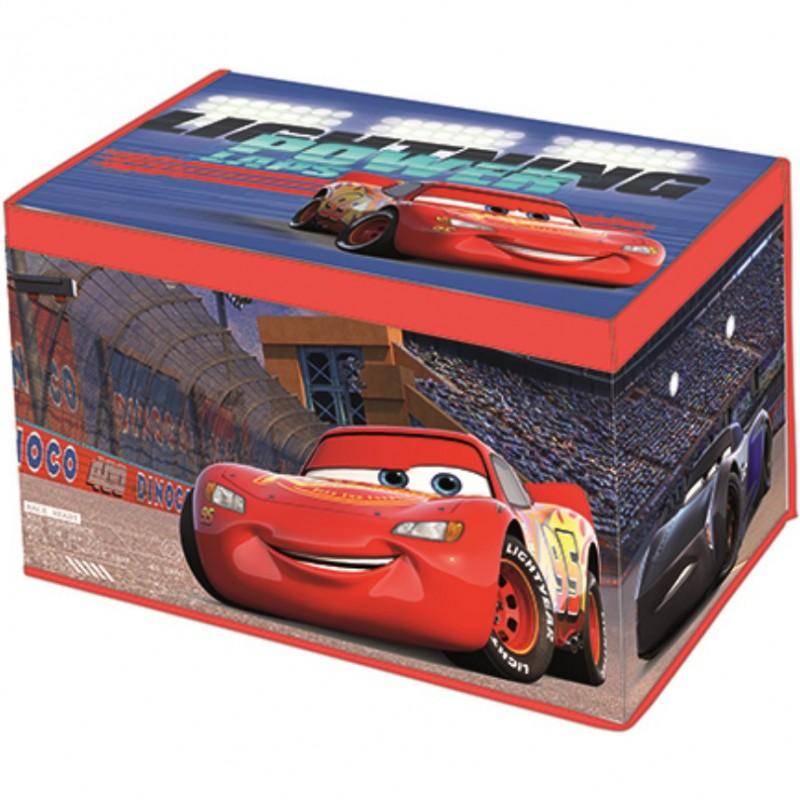 Cutie depozitare cu capac SunCity, 55 x 37 x 33 cm, material textil, model Cars
