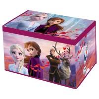Cutie depozitare cu capac SunCity, 55 x 37 x 33 cm, material textil, model Frozen 2