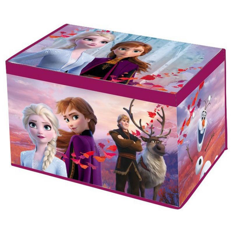 Cutie depozitare cu capac SunCity, 55 x 37 x 33 cm, material textil, model Frozen 2 2021 shopu.ro