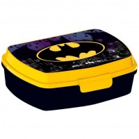 Cutie pentru sandwich Batman SunCity, 16 x 12 x 5 cm, plastic, 3 ani+, Negru/Galben