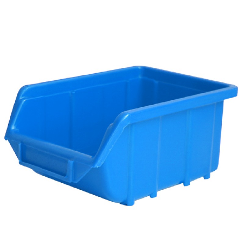 Cutie depozitare plastic Polonia, 221 x 350 x 165 mm, albastru 2021 shopu.ro