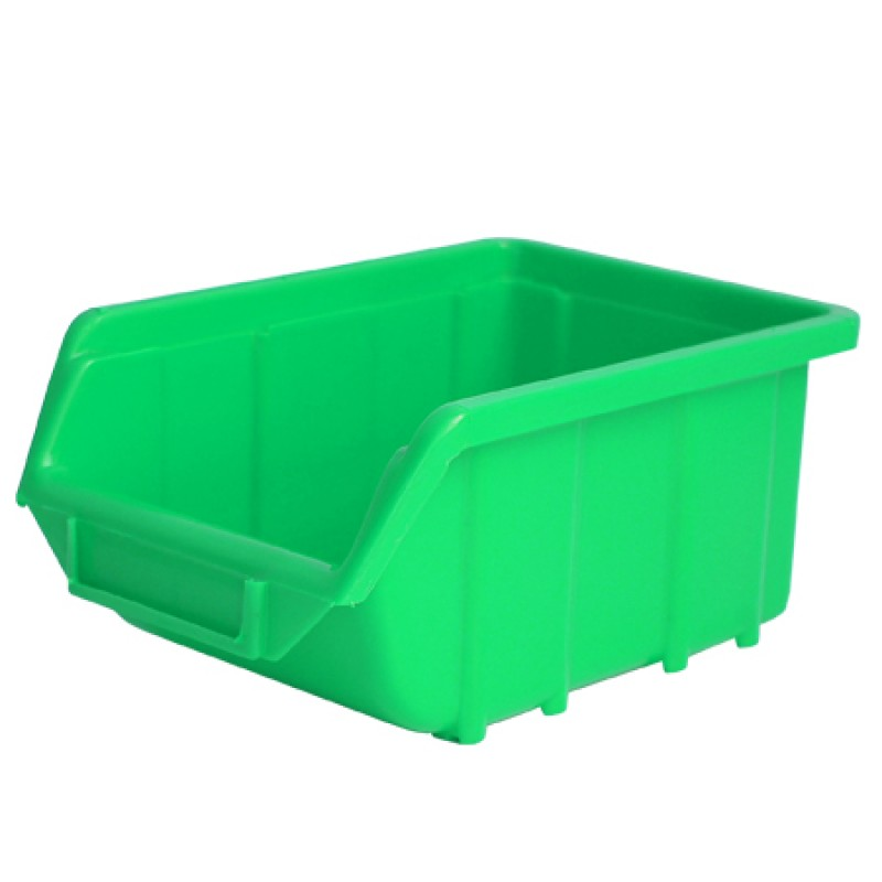 Cutie depozitare plastic Polonia, 221 x 350 x 165 mm, verde 2021 shopu.ro