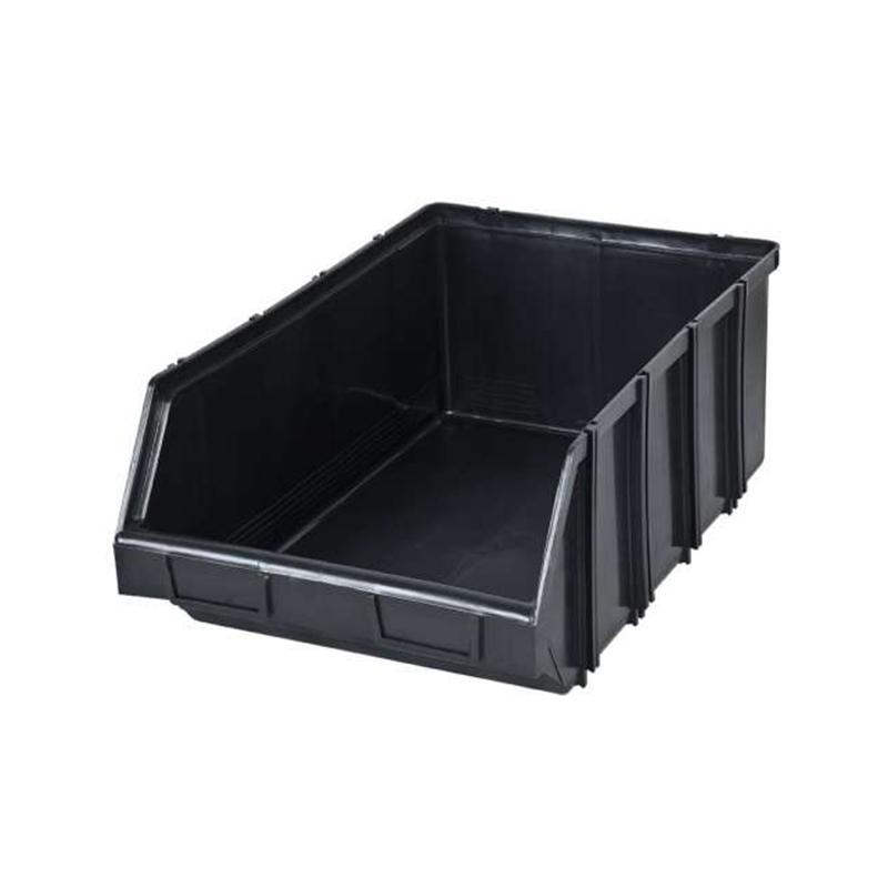 Cutie modulara pentru depozitare Polonia, 310 x 490 x 190 mm, plastic, Negru 2021 shopu.ro