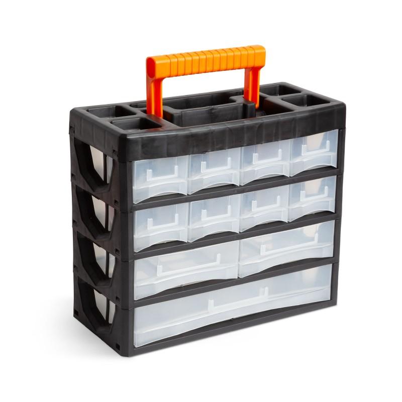 Organizator tip dulap Handy, 31.5 x 27 x 14.5 cm, 11 sertare, 24 comartimente, maner ascuns 2021 shopu.ro