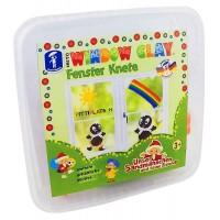 Cutiuta cu plastilina decorativa pentru geam Feuchtmann, 8 culori, 3 ani+