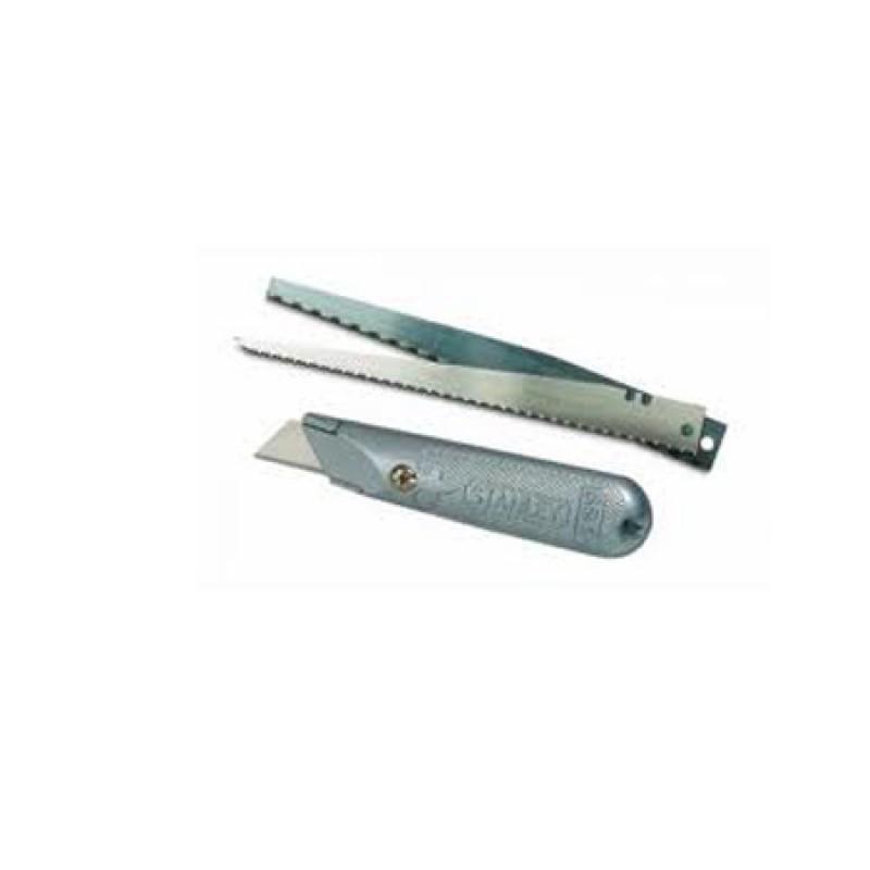 Cutter metalic cu lama trapez/bomfaier/fierastrau fixa Stanley 2021 shopu.ro