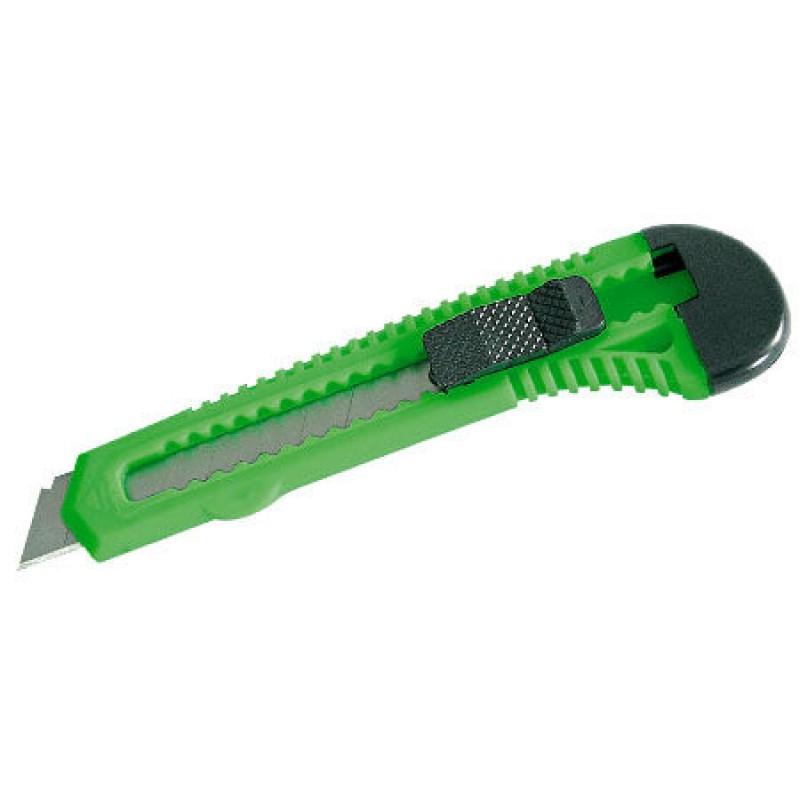 Cutter plastic, 18 mm, fixare cu blocator, Verde 2021 shopu.ro