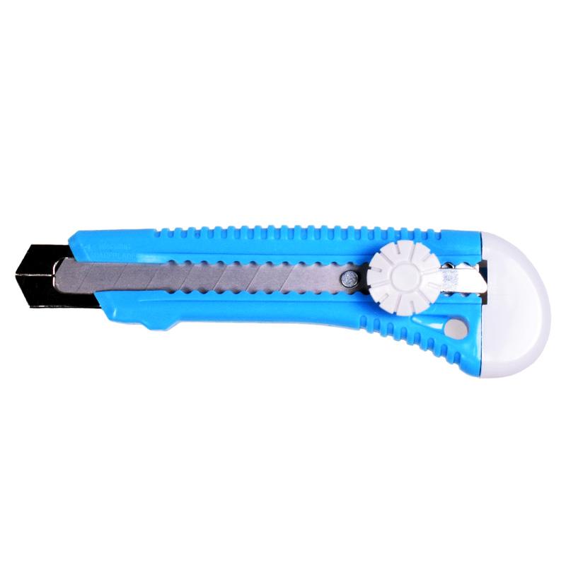 Cutter plastic cu ghidaj Mega, 18 mm, Albastru 2021 shopu.ro