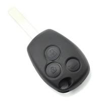 Carcasa cheie Dacia/Renault Carguard, 3 butoane, suport inox pentru baterie, model 3, Negru