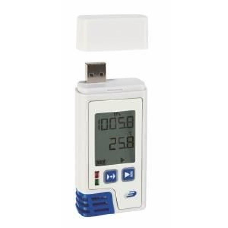 Data Logger profesional pentru temperatura, umiditate si presiune atmosferica Log220 PDF, LED, interfata USB, alarma
