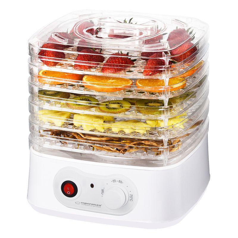 Deshidrator alimente Appetissant Esperanza, 250 W, 4 nivele, Alb 2021 shopu.ro