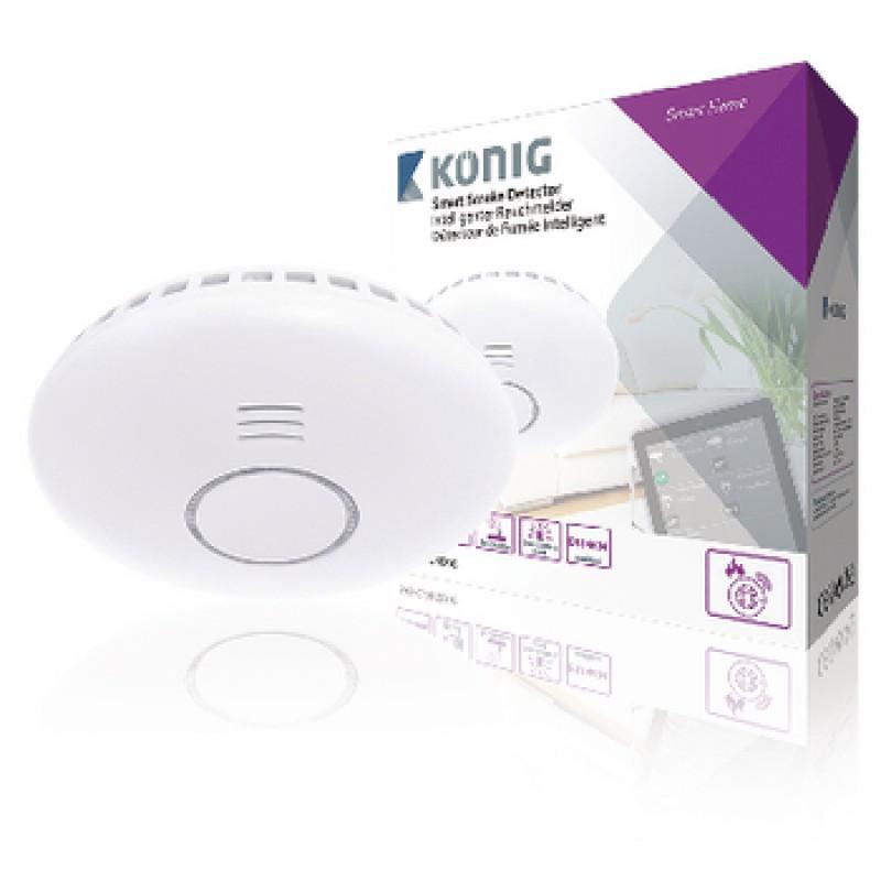 Detector inteligent de fum Konig, 868 Mhz, alb