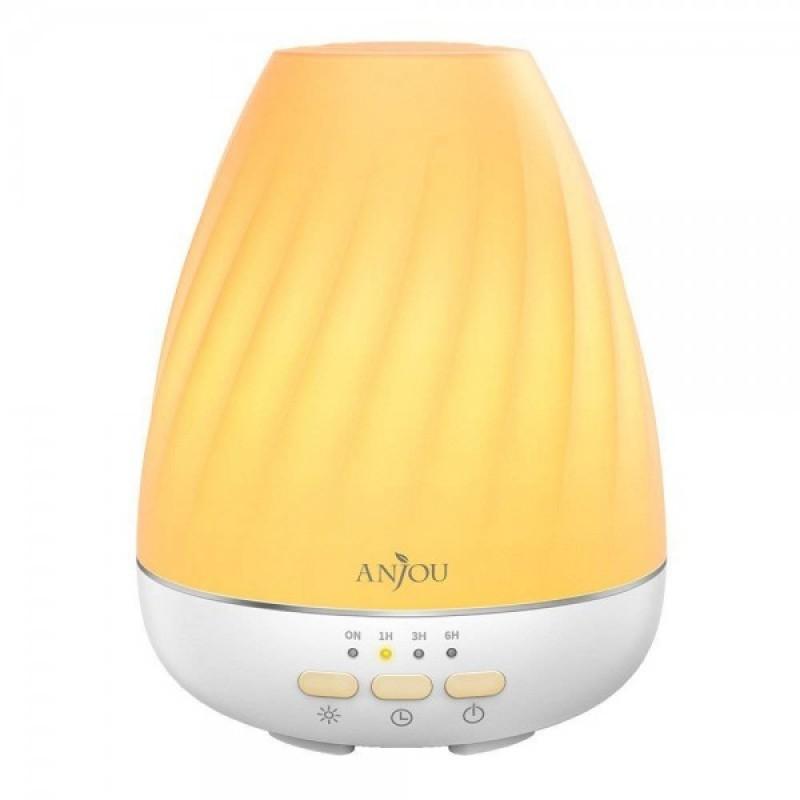 Difuzor aroma cu ultrasunete Anjou ADA003, 13 W, 200 ml, LED 7 culori