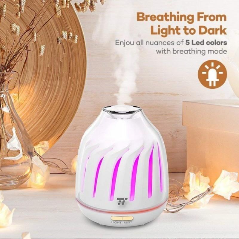 Difuzor aroma cu ultrasunete Tao Tronics, 120 ml, LED 5 culori