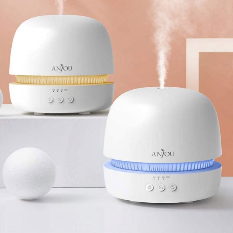 Difuzor ultrasunete Anjou, 10 W, 300 ml, LED RGB, 2 moduri functionare, oprire automata