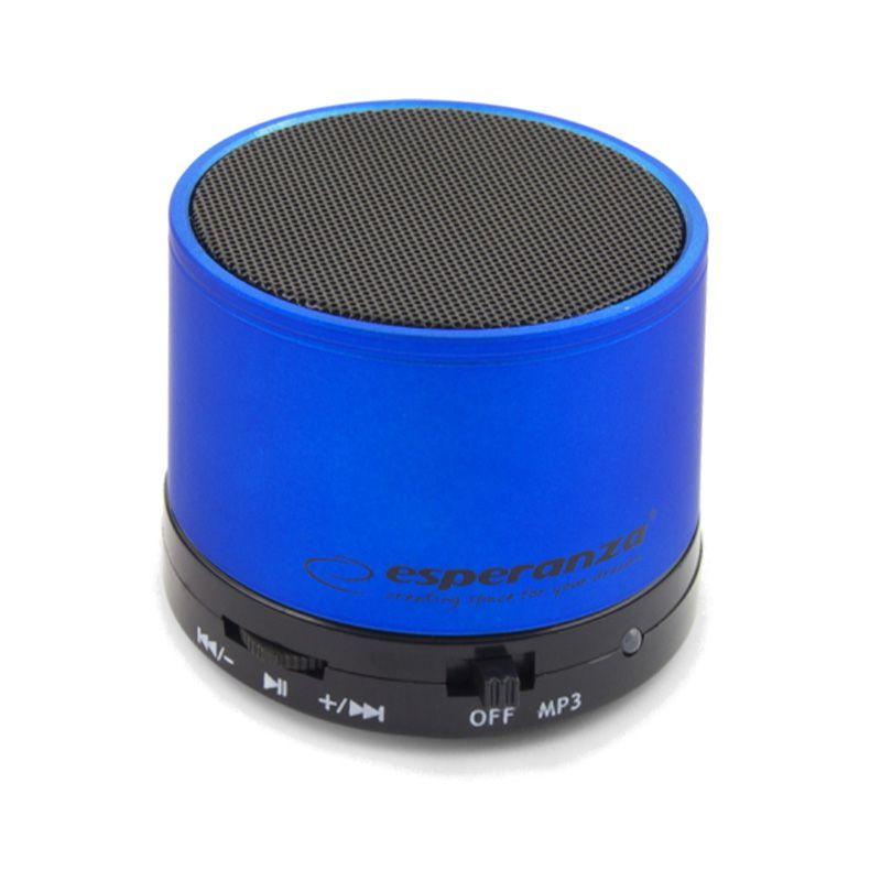 Boxa bluetooth Ritmo Esperanza, jack 3.5 mm, miscro USB, 520 mAh, Albastru 2021 shopu.ro