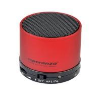 Boxa bluetooth Ritmo Esperanza, jack 3.5 mm, micro USB, 520 mAh, Rosu