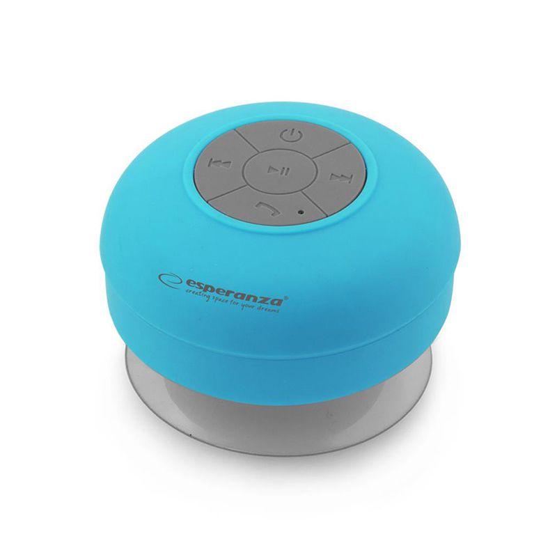 Boxa bluetooth Waterproof Sprinkle Esperanza, 3 W, 10 m, 300 mAh, Albastru 2021 shopu.ro