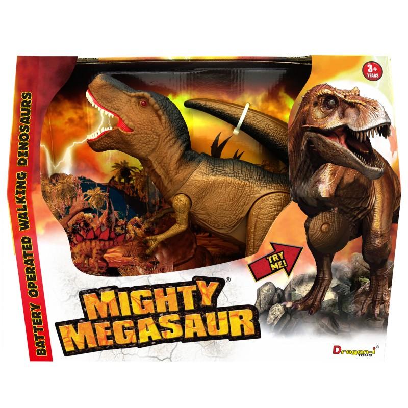 Dinozaur T-Rex, lumini si sunete, 30 cm, 3 ani+ 2021 shopu.ro