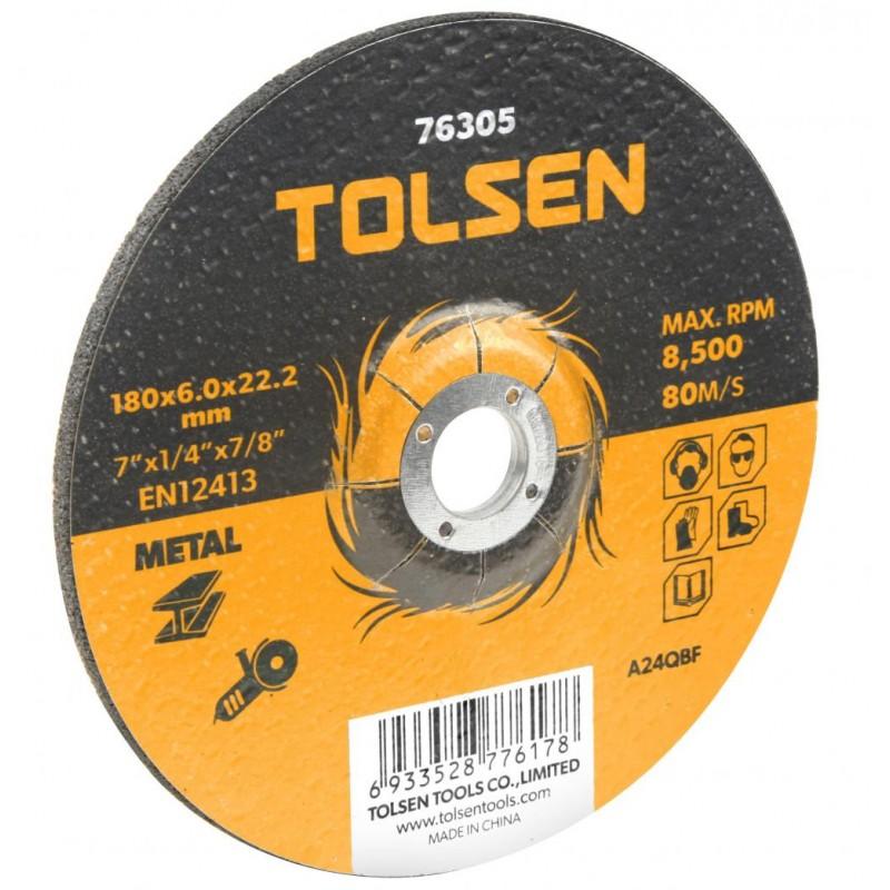 Disc abraziv cu centru coborat Tolsen, 230 x 6 x 22 mm 2021 shopu.ro