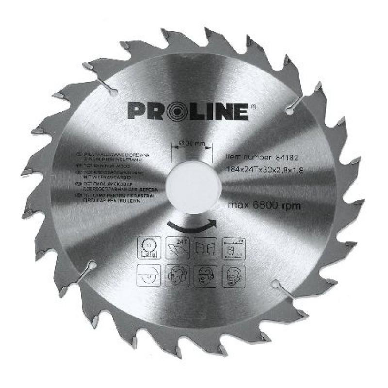 Disc circular pentru lemn Proline, dinti vidia, 184 mm/24 D 2021 shopu.ro