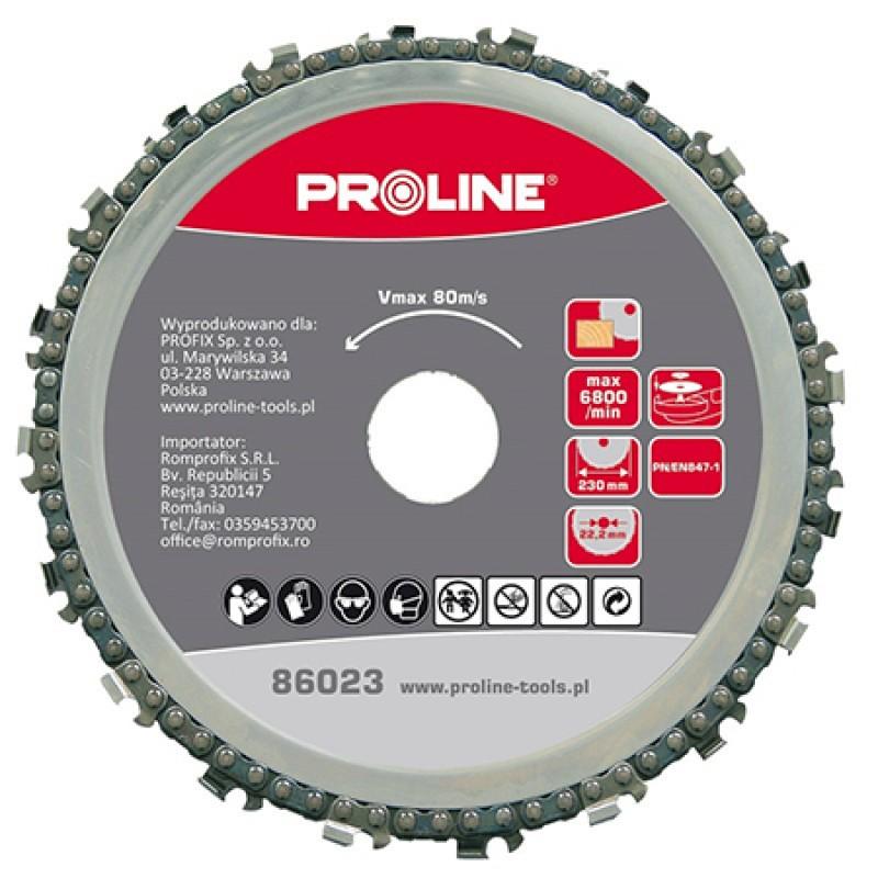 Disc cu lant pentru lemn Proline, 115 mm