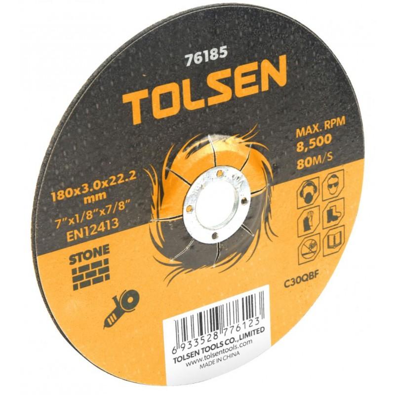 Disc taiere piatra cu centru coborat Tolsen, 125 x 3 x 22 mm shopu.ro